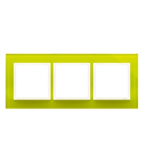 Ramka 3- krotna szklana limonkowy sorbet DRN3/90