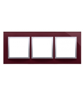 Ramka 3- krotna szklana kusząca śliwka DRN3/89