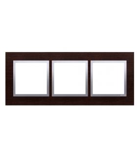 Ramka 3- krotna drewniana srebrne wenge DRN3/84
