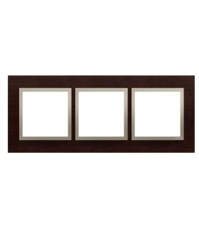 Ramka 3- krotna drewniana złote wenge DRN3/85