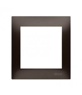 Ramka 1- krotna do puszek karton-gips brąz mat, metalizowany DRK1/46