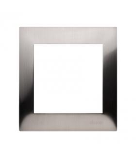 Ramka 1- krotna metalowa inox, metal DR1/61