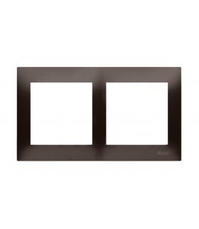 Ramka 2- krotna do puszek karton-gips brąz mat, metalizowany DRK2/46