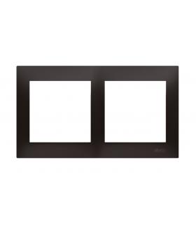 Ramka 2- krotna do puszek karton-gips antracyt, metalizowany DRK2/48