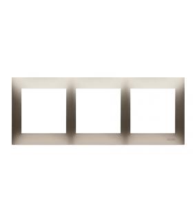 Ramka 3- krotna złoty mat, metalizowany DR3/44