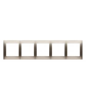 Ramka 5- krotna do puszek karton-gips złoty mat, metalizowany DRK5/44