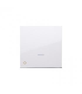 Klawisz pojedynczy z oczkiem do łączników i przycisków podświetlanych antybakteryjny biały DKW1L/AB11