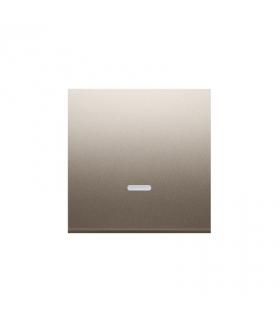 Klawisz pojedynczy z oczkiem do łączników i przycisków podświetlanych złoty mat, metalizowany DKW1L/44