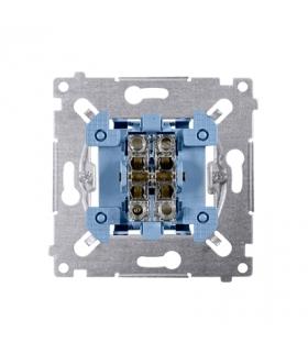 Przycisk podwójny zwierny. Dwuobwodowy 2 wejścia, 2 wyjścia. (mechanizm) 10AX 250V, szybkozłącza, nie dotyczy SP2M