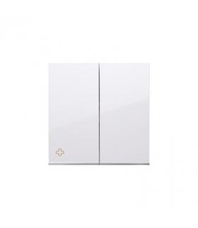 Klawisz podwójny do łączników i przycisków antybakteryjny biały DKW5/AB11