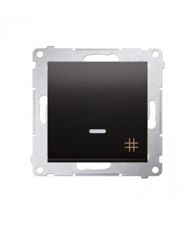 Łącznik krzyżowy z podświetleniem LED (moduł) 10AX 250V, szybkozłącza, antracyt, metalizowany DW7L.01/48