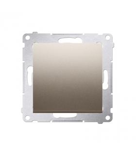 Przycisk pojedynczy zwierny bez piktogramu (moduł) 10AX 250V, szybkozłącza, złoty mat, metalizowany DP1.01/44