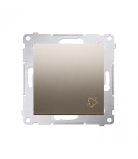 """Przycisk """"dzwonek"""" (moduł) 10AX 250V, szybkozłącza, złoty mat, metalizowany DD1.01/44"""