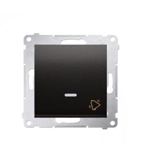 """Przycisk """"dzwonek"""" z podświetleniem LED (moduł) 10AX 250V, szybkozłącza, antracyt, metalizowany DD1L.01/48"""