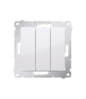 Przycisk potrójny (moduł) 10AX 250V, szybkozłącza, biały DP31.01/11