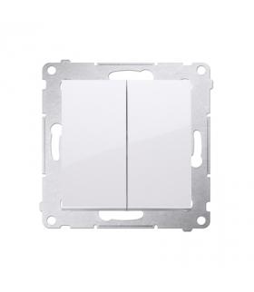 Przycisk podwójny zwierny. Dwuobwodowy 2 wejścia, 2 wyjścia. (moduł) 10AX 250V, szybkozłącza, biały DP2.01/11