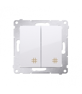Łącznik krzyżowy podwójny (moduł) 10AX 250V, szybkozłącza, biały DW7/2.01/11
