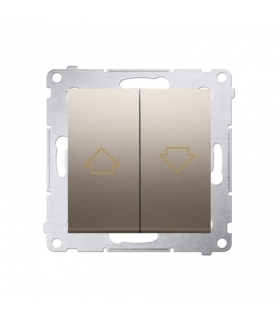 Przycisk żaluzjowy pojedynczy złoty mat, metalizowany 10A DZP1.01/44