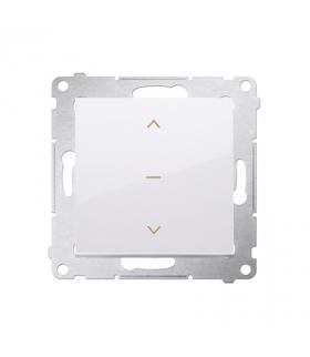 Łącznik żaluzjowy pojedynczy trójpozycyjny (1-0-2) biały 10A DZW1K.01/11