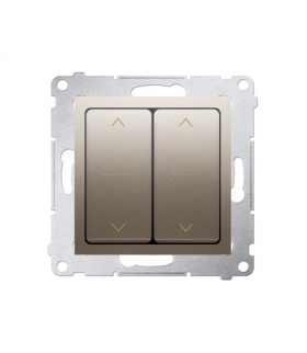 Łącznik żaluzjowy podwójny trójpozycyjny (1-0-2) złoty mat, metalizowany 10A DZW2.01/44