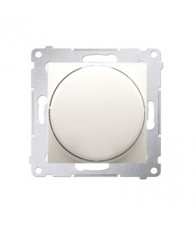 Ściemniacz do LED ściemnialnych, naciskowo-obrotowy, jednobiegunowy kremowy W układzie schodowymTak DS9L.01/41