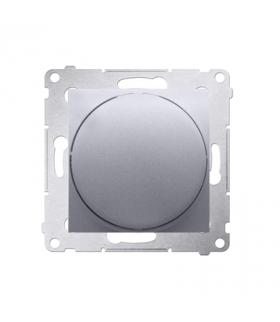 Ściemniacz do LED ściemnialnych, naciskowo-obrotowy, jednobiegunowy srebrny mat, metalizowany W układzie schodowymTak DS9L.01/43