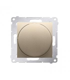Ściemniacz do LED ściemnialnych, naciskowo-obrotowy, jednobiegunowy złoty mat, metalizowany W układzie schodowymTak DS9L.01/44
