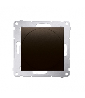 Ściemniacz do LED ściemnialnych, naciskowo-obrotowy, jednobiegunowy brąz mat, metalizowany W układzie schodowymTak DS9L.01/46