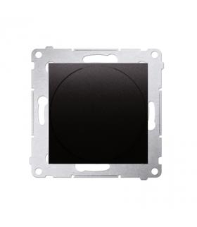 Ściemniacz do LED ściemnialnych, naciskowo-obrotowy, jednobiegunowy antracyt, metalizowany W układzie schodowymTak DS9L.01/48