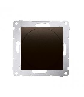 Ściemniacz naciskowo-obrotowy brąz mat, metalizowany DS9T.01/46