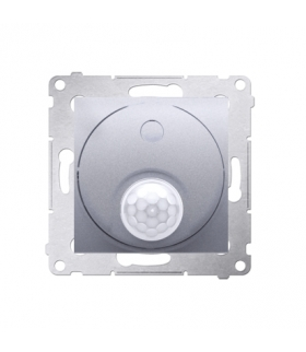 Łącznik z czujnikiem ruchu z przekaźnikiem do obiektów użyteczności publicznej srebrny mat, metalizowany DCR11P.01/43