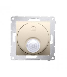 Łącznik z czujnikiem ruchu z przekaźnikiem do obiektów użyteczności publicznej złoty mat, metalizowany DCR11P.01/44