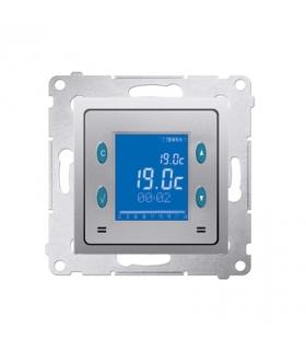 Regulator temperatury z wyświetlaczem (czujnik wewnętrzny) srebrny mat, metalizowany D75817.01/43