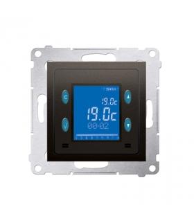 Regulator temperatury z wyświetlaczem (czujnik wewnętrzny) brąz mat, metalizowany D75817.01/46