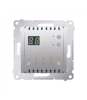 Regulator temperatury z wyświetlaczem (czujnik wewnętrzny) srebrny mat, metalizowany DTRNW.01/43