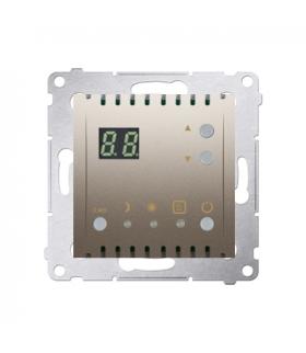 Regulator temperatury z wyświetlaczem (czujnik wewnętrzny) złoty mat, metalizowany DTRNW.01/44
