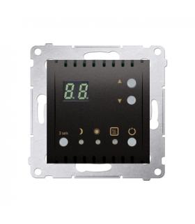 Regulator temperatury z wyświetlaczem (czujnik wewnętrzny) antracyt, metalizowany DTRNW.01/48
