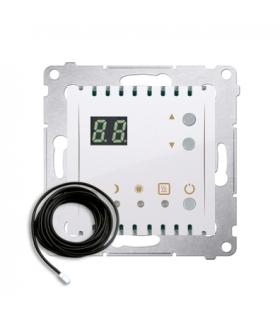 Regulator temperatury z wyświetlaczem z czujnikiem zewnętrzym (sonda) biały DTRNSZ.01/11