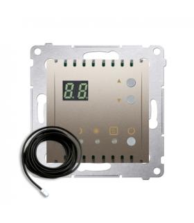 Regulator temperatury z wyświetlaczem z czujnikiem zewnętrzym (sonda) srebrny mat, metalizowany DTRNSZ.01/44