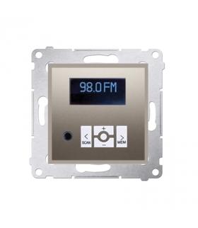 Radio cyfrowe z wyświetlaczem złoty mat, metalizowany D75252.01/44
