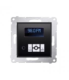 Radio cyfrowe z wyświetlaczem antracyt, metalizowany D75252.01/48