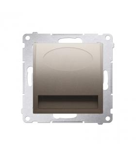 Oprawa schodowa LED, 230V złoty mat, metalizowany DOS.01/44 barwa ciepła