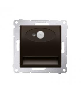 Oprawa oświetleniowa LED z czujnikiem ruchu, 14V brąz mat, metalizowany DOSC14.01/46