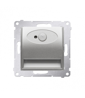 Oprawa oświetleniowa LED z czujnikiem ruchu, 14V srebrny mat, metalizowany DOSC14.01/43