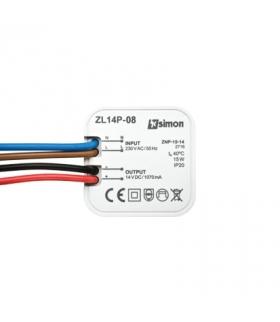 Zasilacz LED dopuszkowy 14V, DC, 8W. ZL14P-08