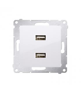 Ładowarka USB podwójna biały DC2USB.01/11