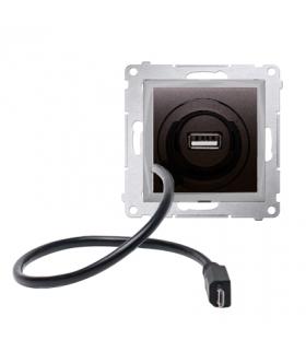 WYCOFANY Z OFERTY - Dostępny do wyczerpania zapasów magazynowych, Ładowarka USB i micro-USB antracyt, metalizowany D75405.01/48