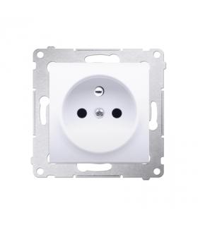 Gniazdo pojedyncze z uziemieniem z przesłonami do ramek Nature do ramek Premium (moduł) 16A 250V, szybkozłącza, biały DGZ1CZ.01/