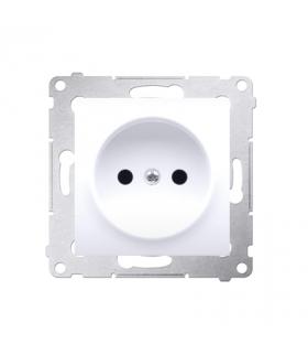 Gniazdo podjedyncze bez uziemienia z przesłonami do ramek Nature do ramek Premium (moduł) 16A 250V, zaciski śrubowe, biały DG1Z.