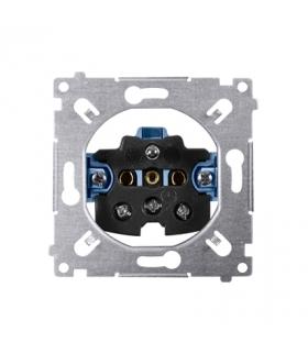 Gniazdo pojedyncze z uziemieniem (mechanizm) 16A 250V, SGZ1M